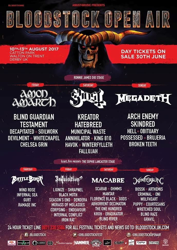 Bloodstock 2017 June Announcement