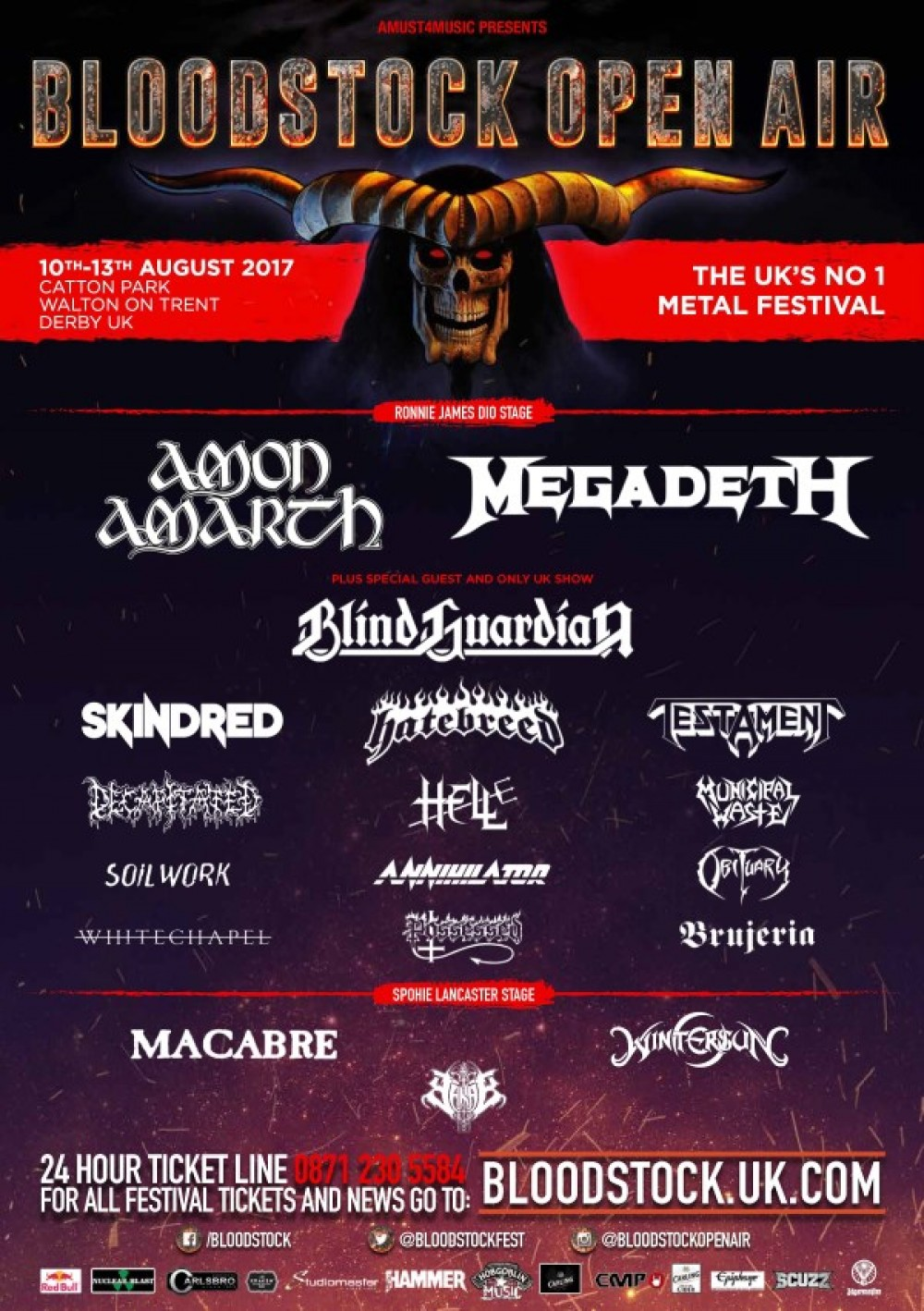 BLOODSTOCK announce four more bands