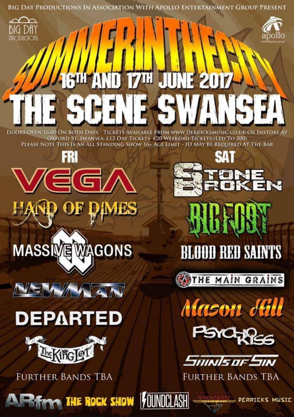Summer In The City - The Scene in Swansea - 16th & 17th June 2017