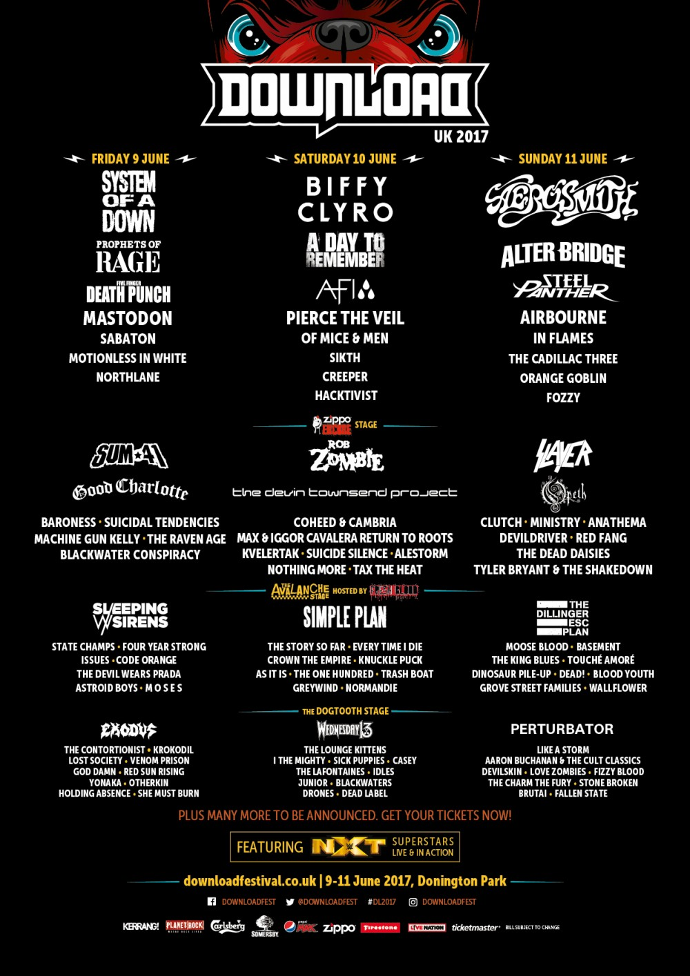 DOWNLOAD Festival 2017 Announces more than 20 more bands!